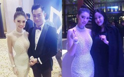 Jolie Nguyễn hào hứng chụp ảnh cùng Cổ Thiên Lạc, Hyomin (T-Ara) tại sự kiện ở Macao