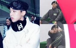 Lộ ảnh G-Dragon trong quân ngũ: Đi dép lê, ngồi một góc đáng yêu cùng đồng đội