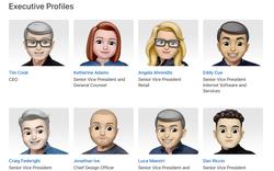 """Apple đổi hết avatar của sếp lớn thành Memoji, trông vừa """"kute"""" mà vẫn y hệt ảnh gốc"""