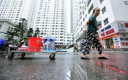 Thau rửa bể ngầm, bể trên cao của tổ hợp chung cư HH Linh Đàm để đón nước sạch