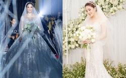Cận cảnh 4 bộ váy cưới của Bảo Thy: Bộ nào cũng ren hoa yêu kiều, váy cưới chính cực đồ sộ lộng lẫy