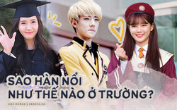 Muôn kiểu sao Hàn gây náo loạn khi đến trường: Dù đi học, đi thi hay dự lễ tốt nghiệp cũng đẹp hút hồn chẳng khác gì đến event thảm đỏ