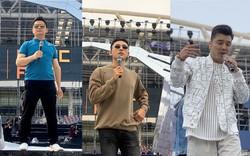 Ưng Hoàng Phúc, Bằng Kiều, Isaac mướt mồ hôi tập luyện cho phần trình diễn tại đại nhạc hội