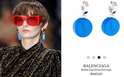 """Vẫn là Balenciaga biết cách """"làm tiền"""" giới mộ điệu: gom nắp chai nhựa về làm khuyên tai rồi bán hơn 10 triệu"""