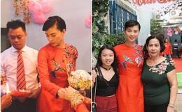 Dân mạng xôn xao trước hình ảnh Ngô Thanh Vân mặc áo dài trong lễ rước dâu