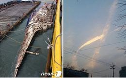 Ngay trong quá trình trục vớt phà Sewol, điều kỳ diệu đã xuất hiện trên bầu trời Hàn Quốc