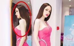 Hương Giang vẫn rất đẹp cho đến khi bạn nhìn thật kĩ vào bóng hình y hệt ma-nơ-canh của Hoa hậu trong gương