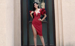 Tiểu Vy gây chú ý khi diện váy khoét sâu, khoe vòng 1 gợi cảm trong những ngày đầu nhập cuộc Miss World