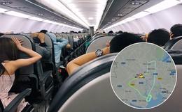 """Clip: Hành khách đồng loạt vào """"tư thế an toàn"""" trên chuyến bay Vietjet nghi gặp sự cố, phải bay nhiều vòng rồi quay lại Tân Sơn Nhất"""