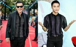 Thần thái cũng không quan trọng bằng tuổi tác, cứ nhìn Sơn Tùng và Trần Bảo Sơn cùng diện 1 chiếc áo thì biết