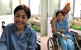 Mai Phương cười tươi lạc quan trên giường bệnh, tiếp đón từng nghệ sĩ tới thăm dù sức khoẻ còn yếu