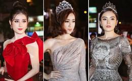 Dàn mỹ nhân váy áo lộng lẫy, đọ dáng bất phân thắng bại trên thảm đỏ chung kết Hoa hậu Việt Nam 2018