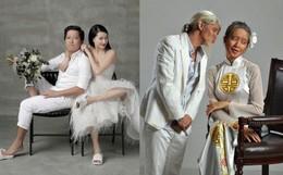 Muôn kiểu chụp ảnh cưới của sao Việt: Người đeo dép tổ ong, người hoá trang thành ông bà lão 80 tuổi
