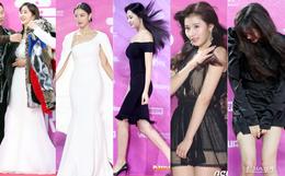 Siêu thảm đỏ rét nhất Kbiz: Kim So Hyun và dàn nữ thần Kpop mếu máo giữ váy, đầu bù tóc rối, BTS và Wanna One quá bảnh
