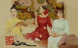 """3 """"ngọc nữ mới của showbiz"""" Jun Vũ, Kaity, Thanh Tú khoe vẻ đẹp thanh xuân trong bộ ảnh áo dài đầu năm"""
