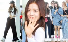 BLACKPINK gây náo loạn sân bay: Jennie và Lisa như đi catwalk, Jisoo lại chiếm trọn spotlight vì đẹp xuất thần