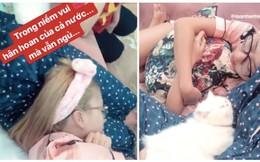 Tin được không, khi cả nước cuồng nhiệt xem bóng đá thì hot girl hàng đầu - Quỳnh Anh Shyn bình tĩnh... ngủ