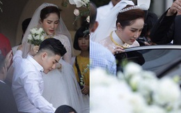 Hình ảnh hiếm tại đám cưới Bảo Thy: Cô dâu chính thức xuất hiện, xinh đẹp như một nàng công chúa, không trực tiếp cùng ra xe với chú rể