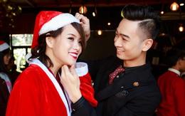 SlimV chăm chút ân cần cho bạn gái Huyền Trang trong ngày ra mắt album đầu tay