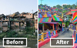 """Khu ổ chuột ở Indonesia bỗng """"lột xác"""" chỉ sau thời gian ngắn, du khách tấp nập ghé thăm"""
