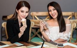 Jolie Nguyễn cá tính đọ dáng bên Emmy Nguyễn tại Food Central