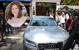 Ô tô Audi của hoa hậu Thu Hoài bị niêm phong đưa về phường do lấn chiếm vỉa hè Sài Gòn