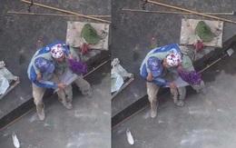 Khoảnh khắc đẹp: Cái thơm trộm của vợ chồng thợ sơn