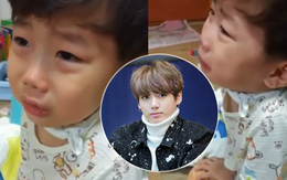 Clip: Cậu bé đáng yêu khóc mếu máo vì muốn được gặp Jungkook (BTS)