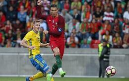 Ronaldo khai hỏa, Bồ Đào Nha vẫn thua ngược Thụy Điển