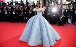 """Cận cảnh chiếc đầm Lọ Lem """"đẹp nín thở"""" của Hoa hậu đẹp nhất thế giới Aishwarya Rai trên thảm đỏ Cannes"""