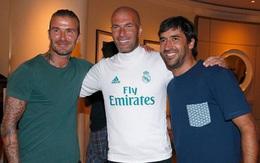 Beckham gặp lại đồng đội cũ giữa tin đồn li dị Victoria
