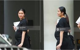 HOT: Những hình ảnh lộ bụng bầu hiếm hoi của Hà Tăng ở tháng cuối thai kì