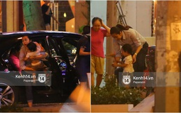 Mang thai gần 9 tháng, Hà Tăng vẫn vui vẻ bồng bế con trai đi chơi sau giờ làm