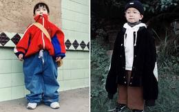 Cậu nhóc 4 tuổi chuyên lấy quần áo của bố diện thành đồ phong cách retro siêu độc đáo