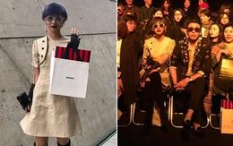 """Seoul Fashion Week: Phí Phương Anh tóc tím """"nổi bần bật"""" trên hàng ghế đầu cùng stylist Hoàng Ku"""