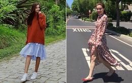 """Hà Hồ - Thanh Hằng chỉ diện đồ bình dân cho street style mà đã """"át"""" hết các đàn em"""