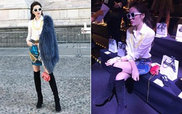 Tới Milan Fashion Week, Kỳ Duyên đầu tư kỹ lưỡng và xuất hiện ngay trên hàng ghế đầu show Moschino