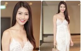 Diện váy khoét sâu táo bạo đi sự kiện, Chế Nguyễn Quỳnh Châu để lộ miếng dán ngực kém duyên