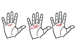 Xem đường bán nguyệt dưới ngón tay giữa và áp út, dự đoán chuyện tình duyên