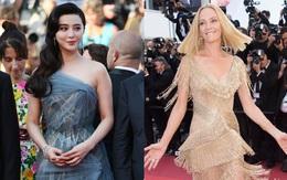 Thảm đỏ bế mạc Cannes: Phạm Băng Băng đẫy đà vẫn lộng lẫy trong cuộc chiến nhan sắc với mỹ nhân Hollywood