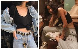 """Hiếm ai được như Louis Hà, hot girl """"mi nhon"""" chỉ diện crop top và quần cạp cao mà vẫn đẹp quên sầu"""