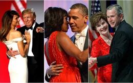 Các Đệ nhất phu nhân Mỹ xinh đẹp nhường nào trong dạ tiệc khiêu vũ mừng lễ nhậm chức của chồng?
