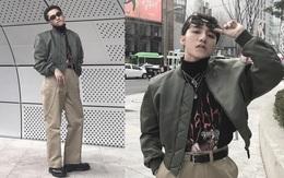 """Seoul Fashion Week: Dự show thứ 2 trong ngày, Sơn Tùng tự làm stylist ra set đồ như """"đồ của bố"""""""