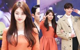 Sự kiện đẹp như tranh: Suzy trở lại với tóc nữ thần, được hoàng tử truyện tranh Lee Jong Suk hộ tống