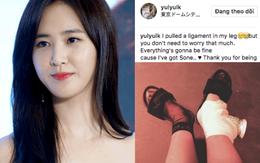 SNSD vừa tuyên bố trở lại, Yuri đã đột ngột bị thương phải băng ở chân