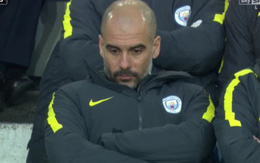 Pep Guardiola bị cười nhạo vì đơ mặt trong trận thua thảm Everton