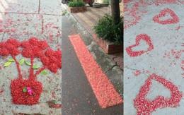 Đến cả quét hoa rơi trên đường bây giờ cũng phải có nghệ thuật như thế này đây!