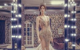 """Độc quyền: Hé lộ váy dạ hội lấp lánh mà Huyền My sẽ mặc trong đêm Bán kết """"Miss Grand International"""" vào tối nay"""