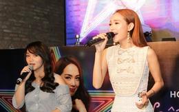 """Minh Hằng đọ giọng với fan nữ trong buổi ra mắt nhạc phim """"Sắc đẹp ngàn cân"""""""