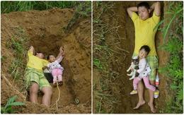 Biết con gái chẳng còn sống được bao lâu, ông bố trẻ nuốt nước mắt tự tay đào mồ cho con dần thích nghi